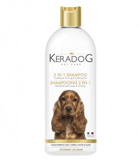 2 in 1 Shampoo und Spülung für Hunde