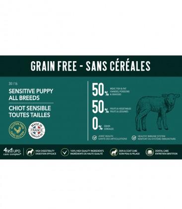 Getreidefreies Trockenfutter für sensible Welpen aller Größen/Rassen