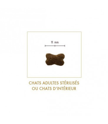 Croquettes Sans Céréales pour Chats Adultes Stérilisés ou d'intérieur